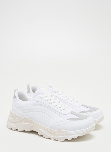 F By Fabrika Erkek Siyah Sneakers BRUNO Beyaz